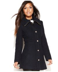Jessica Simpson | Blue Walker Coat | Lyst