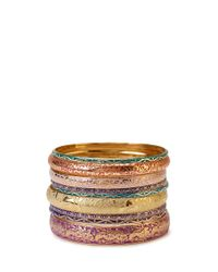 Forever 21 - Multicolor Painted Pressed Bangles - Lyst