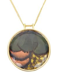 Nocturne - Metallic Zina Gold Tone Feather Necklace - Lyst