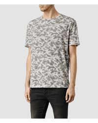 AllSaints | Gray Montauld Ss Crew for Men | Lyst