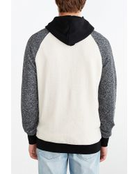 BDG | Black Speckled Colorblocked Pullover Hoodie Sweatshirt for Men | Lyst