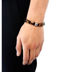 Luis Morais - Brown Tigers Eye Onyx and Whitegold Bracelet for Men - Lyst