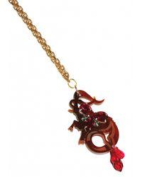 Matthew Williamson   Metallic Capricorn Pendant Necklace   Lyst