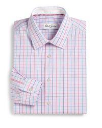Robert Graham - Pink Thin Checked Dress Shirt for Men - Lyst
