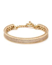 Eddie Borgo Metallic Small Zenith Pave Crystal Cuff Bracelet