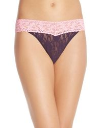 Hanky Panky | Pink 'colorplay' Regular Rise Thong | Lyst