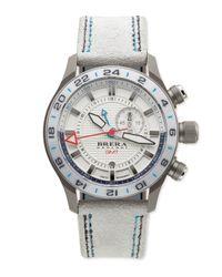 Brera Orologi - Metallic Eterno Orologi Gmt Watch With Suede Strap - Lyst