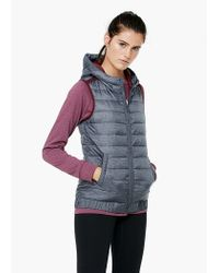 Mango | Gray Fitness & Running - Hooded Outdoor Gilet | Lyst
