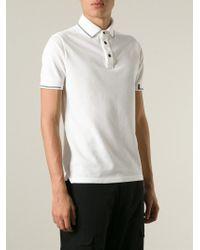 Stone Island | White Contrasting Stripes Polo Shirt for Men | Lyst