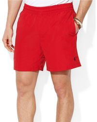 Polo Ralph Lauren | Red Hawaiian Solid Swim Boxer for Men | Lyst