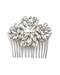 Halo - 'ivy Leaf' Crystal Hair Comb - Metallic - Lyst