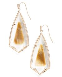 Kendra Scott | Brown 'caroline' Semiprecious Stone Drop Earrings | Lyst