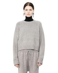 Alexander Wang - Gray Cashwool Crewneck Sweater - Lyst