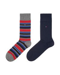 Tommy Hilfiger | Blue 2 Pack Of Variation Stripe Socks for Men | Lyst