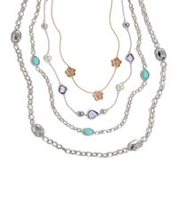 Lagos | Metallic Silver Rocks Long Necklace | Lyst