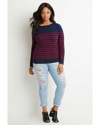Forever 21 - Blue Classic Striped Sweater - Lyst