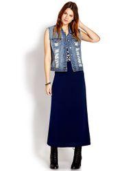 Forever 21 - Blue Basic Maxi Skirt - Lyst