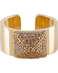 Ileana Makri | Metallic Pave Pyramid Ring | Lyst