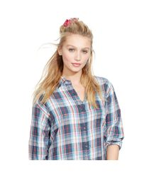 Denim & Supply Ralph Lauren - Gray West Plaid Boyfriend Shirt - Lyst