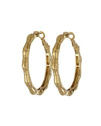 Kate Spade | Metallic Bamboo Small Hoop Earrings | Lyst