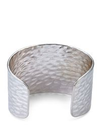 Jaeger - Metallic Hammered Metal Cuff - Lyst