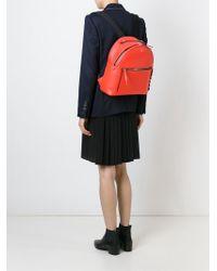 Fendi Orange Crocodile Detail Backpack