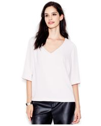 RACHEL Rachel Roy | White V-neck Pullover Top | Lyst