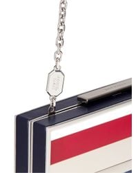 Stuart Weitzman - Multicolor 'box' Stripe Plexiglas Clutch - Lyst