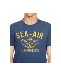 Polo Ralph Lauren | Blue Anchor-print Graphic T-shirt for Men | Lyst