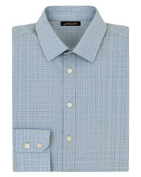 Jaeger | Green Micro Check Classic Shirt for Men | Lyst