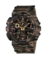 G-Shock | Brown Xl Camouflage Pattern Ana-digi Watch for Men | Lyst