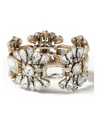 Banana Republic - Metallic Silver Stretch Bracelet Clear Crystal - Lyst