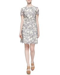 Tory Burch | Gray Summer Two-Tone Lace Dress | Lyst