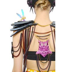 Manish Arora | Metallic Anatomic Faux Leather Harness | Lyst
