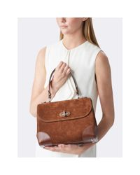 Pink Pony - Brown Small Suede Tiffin Bag - Lyst