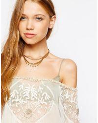 Pilgrim - Metallic Crystal Shard Collar Necklace - Lyst
