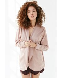 Silence + Noise | Pink Seoul Cozy Hooded Cardigan | Lyst