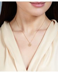 Astley Clarke | Metallic Gold Rising Sun Diamond Pendant Necklace | Lyst