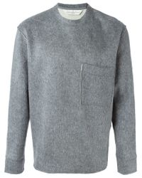 Golden Goose Deluxe Brand - Gray Chest Pocket Sweater for Men - Lyst