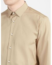 JOSEPH - Brown Poplin John Shirt for Men - Lyst
