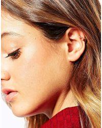 ASOS | Metallic Triangle Anywhere Ear Cuff | Lyst