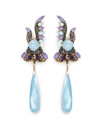Erickson Beamon - Multicolor 'ripple Cascade' Swarovski Crystal Drop Earrings - Lyst