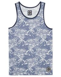 Rip Curl | Blue Larry Floral-print Tank for Men | Lyst