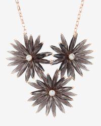 Ted Baker | Black Floria Flower Starburst Necklace | Lyst
