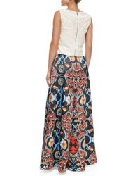 Alice + Olivia - Natural Finlay Fitted Sleeveless Crochet Top - Lyst