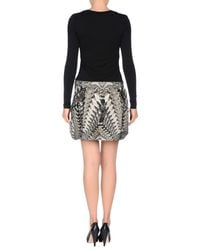 Roberto Cavalli - Black Short Dress - Lyst
