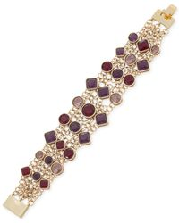 Carolee | Metallic Goldtone Berry Stone Mesh Bracelet  Benefits The Breast Cancer Research Foundation | Lyst