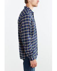 Stapleford - Blue Chico Plaid Flannel Button-down Shirt for Men - Lyst