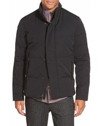 Vince - Black Trim Fit Quilted Twill Jacket for Men - Lyst