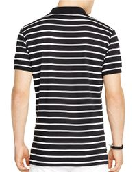 Polo Ralph Lauren | Black Striped Pima Soft-touch Polo Shirt for Men | Lyst